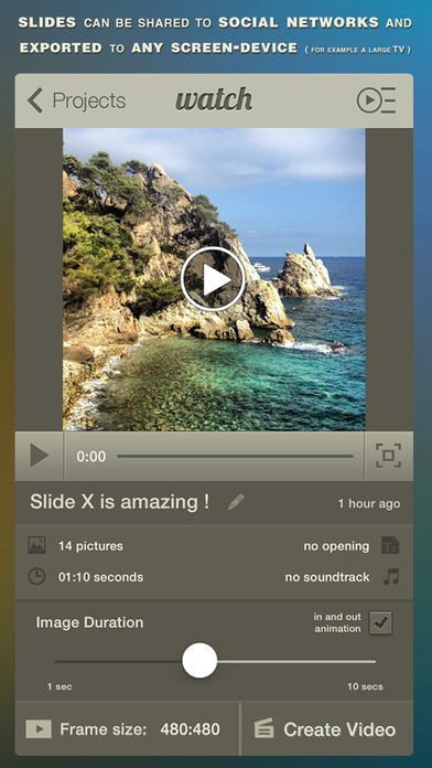 Slide X ● Slideshow Creator Screenshot