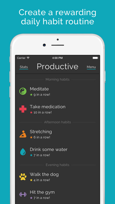 Productive habits & daily goals tracker Screenshot