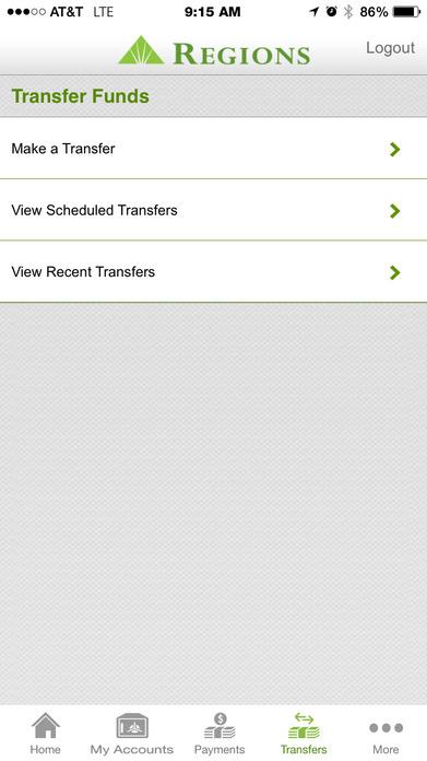 Regions Mobile Screenshot