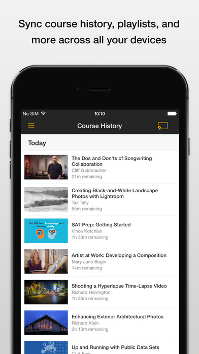 Lynda: Learn New Skills with Online Courses Screenshot