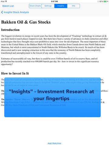Stock TickerPicker Screenshots