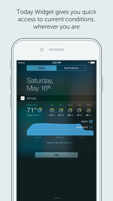 Atmos - Weather for your iPhone and Watch Screenshot