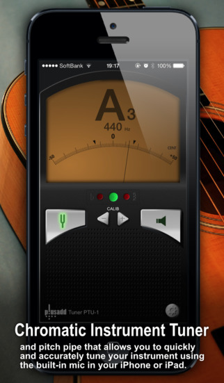 tuner lite by plusadd the ultimate free chromatic tuner for guitar bass ukulele and violin. Black Bedroom Furniture Sets. Home Design Ideas