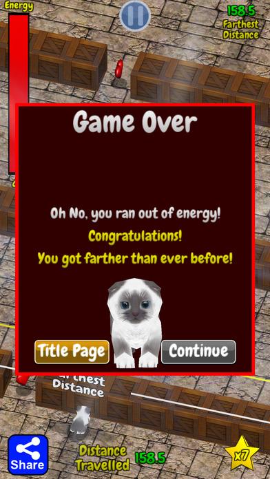 Cu Cat in Slide The Walls 3D Free Screenshot on iOS