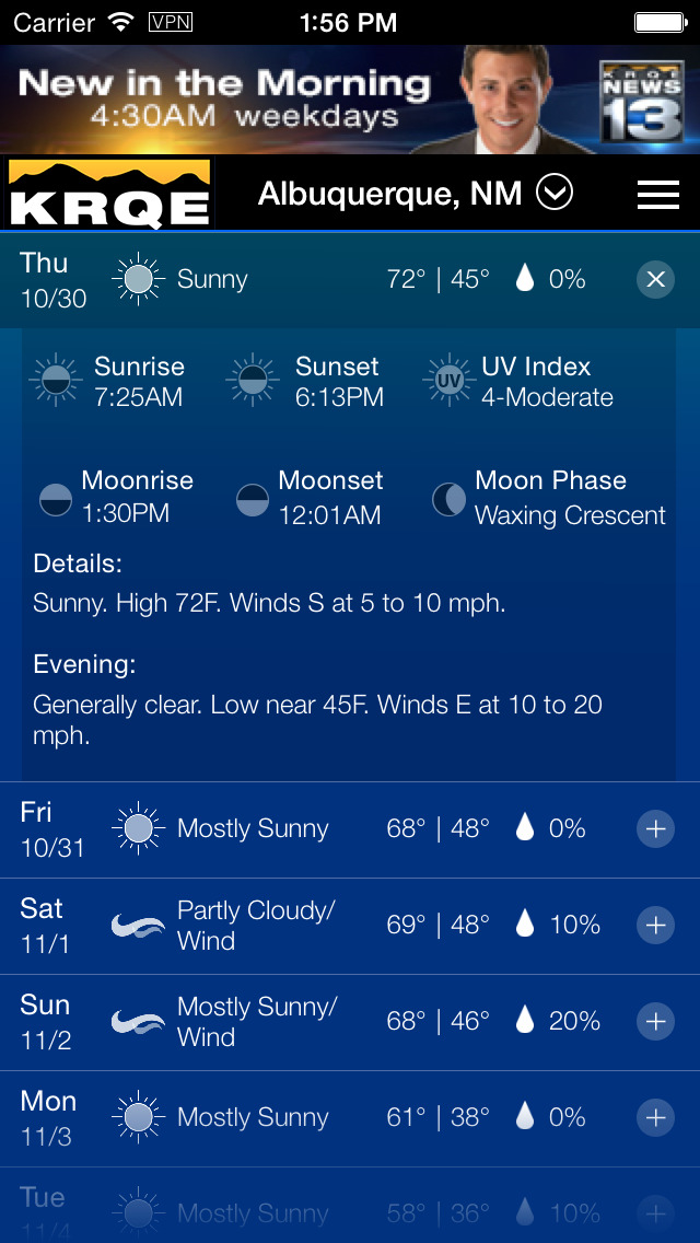 KRQE Weather - Albuquerque Radar & Forecasts | iPhone Weather apps