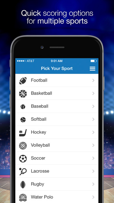 ScoreStream - High School and College Sports Scores Screenshot