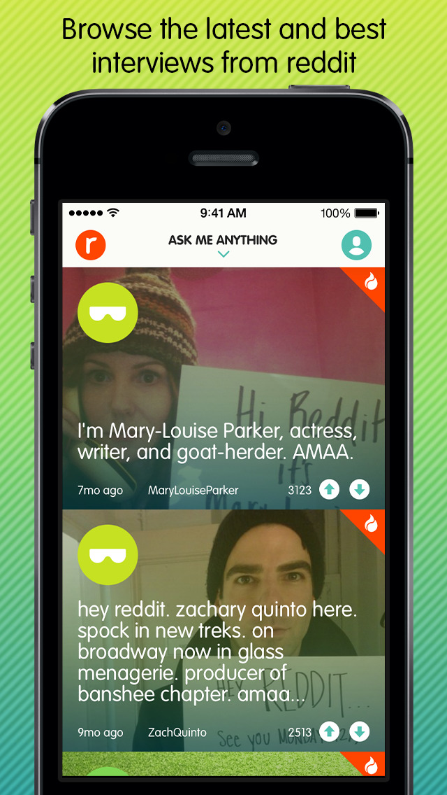 reddit AMA - Ask Me Anything Screenshot on iOS