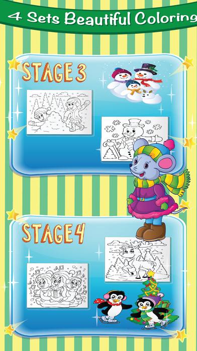 Christmas Coloring Page : Santa with Animal Pet Collection Theme ...