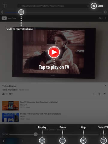 Tubio – Онлайн-видео по TV, Chromecast и Airplay Screenshot