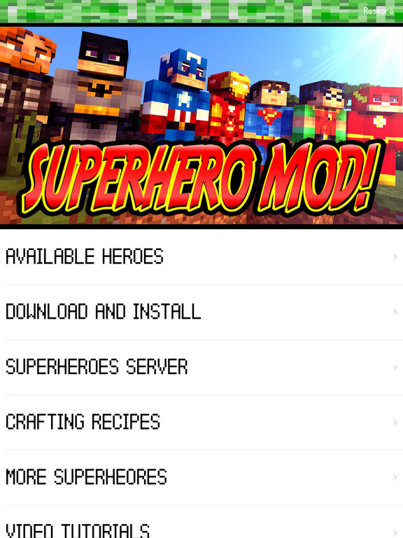 SUPERHERO MOD for Deadpool & Spiderman Minecraft PC Guide Edition by