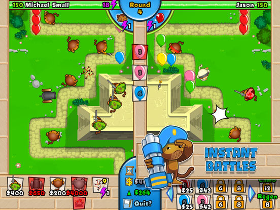 #2. Bloons TD Battles (iOS)