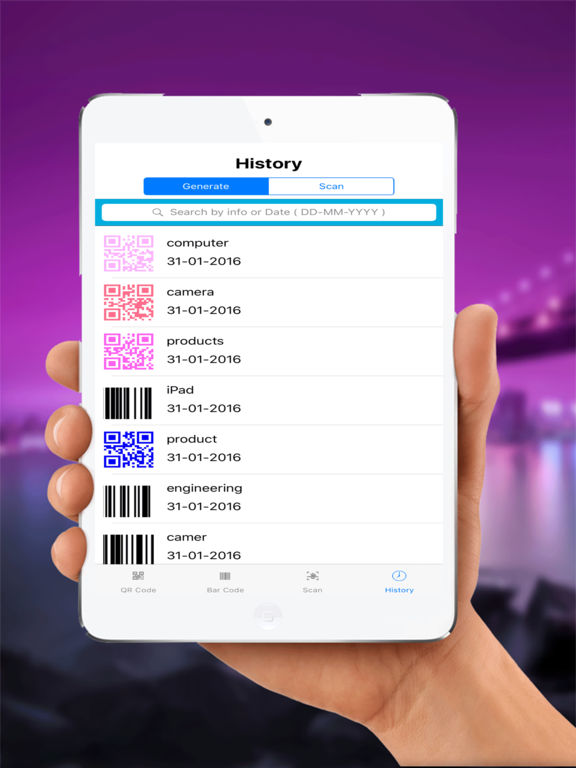 Scan QRCode ,Barcode and Create All Type Code IPA Cracked for iOS