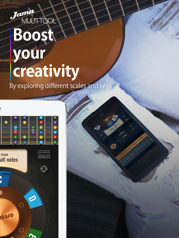 Jamn Multi-tool: Visualize music theory & get inspired to compose awesome melodies. Screenshot