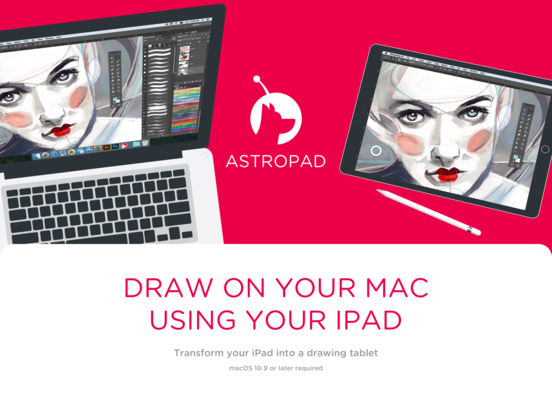 Astropad Drawing Tablet Screenshot