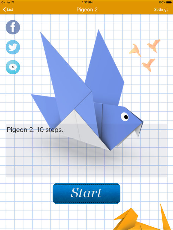 Animated 3D Origami Screenshot