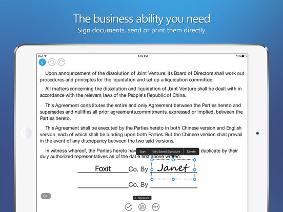 Foxit PDF - PDF reader, editor, form, signature Screenshot