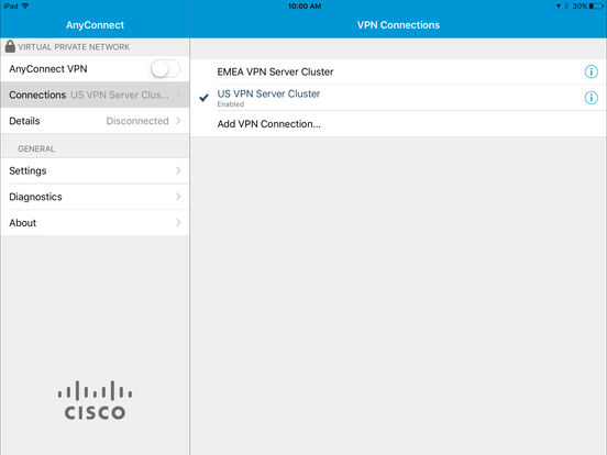 Cisco anyconnect vpn client download iphone