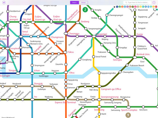 App123 Explore Seoul Subway map