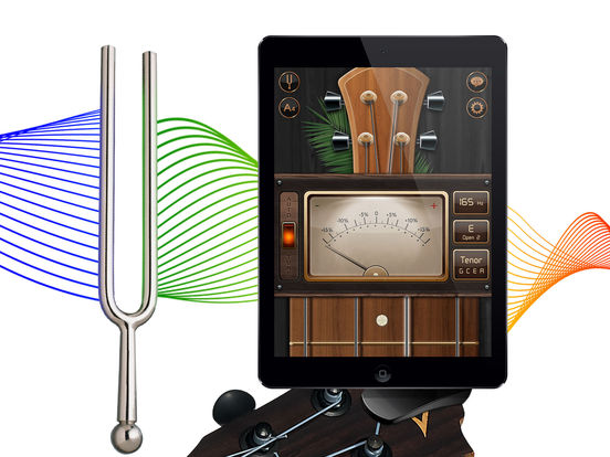 chromatic guitar tuner tune your ukulele acoustic and electric guitars screenshot. Black Bedroom Furniture Sets. Home Design Ideas