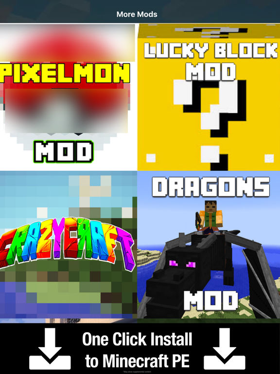Crazy Craft PE for Minecraft Pocket Addons Edition by Alex