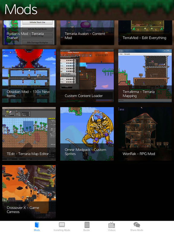 Mods for Terraria PC Edition- TerraPedia! by Tapgang LLC
