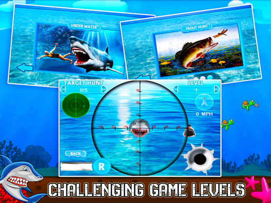 Flying Hungry Shark Endless Shooting Sniper Games-ipad-2